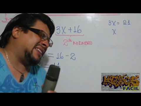 MATEMÁTICA FÁCIL - ECUACIONES DE PRIMER GRADO (Introducción al álgebra)