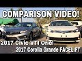2017 Honda Civic VS 2017 Toyota Corolla Grande: Side by Side COMPARISON!