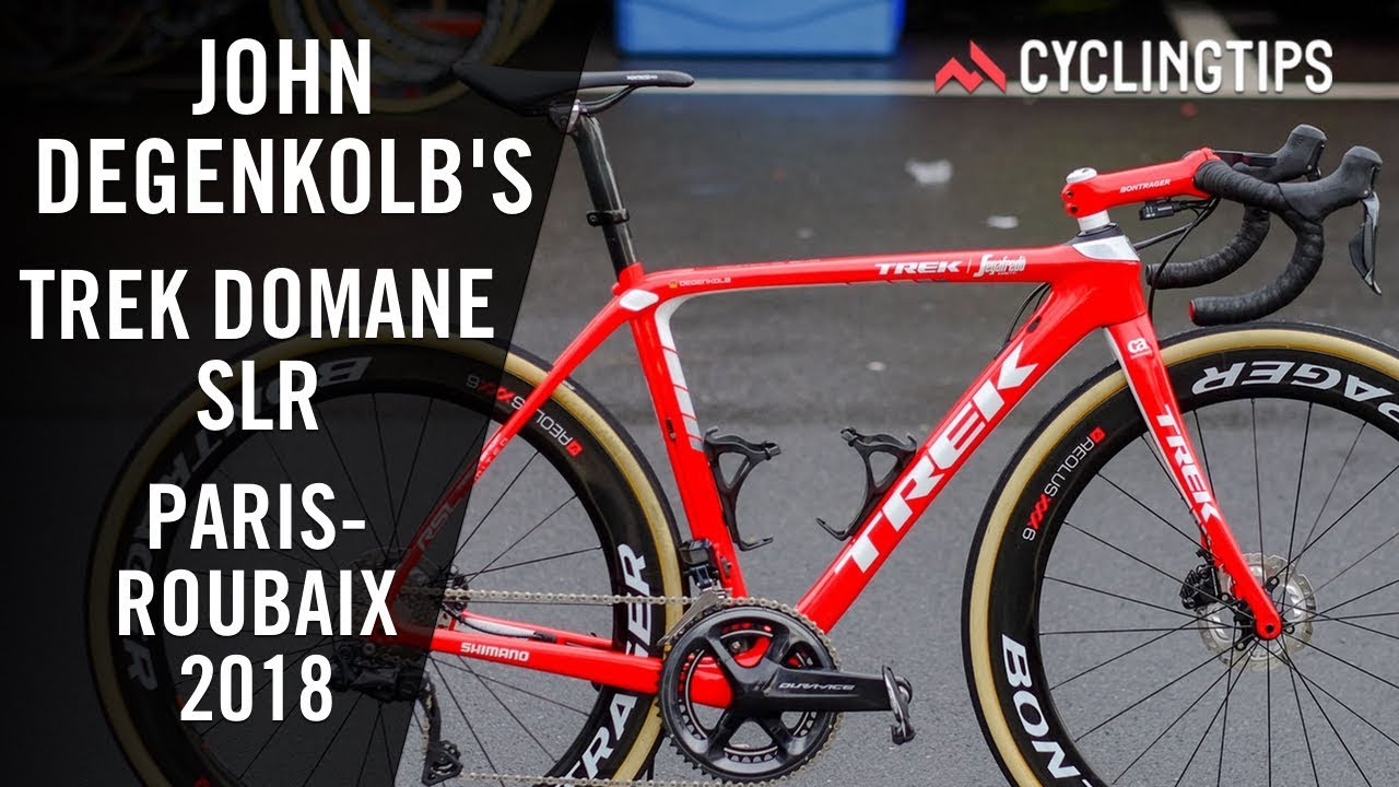e4b61f230ac John Degenkolb's Trek Domane for Paris Roubaix with Ultegra RX - YouTube