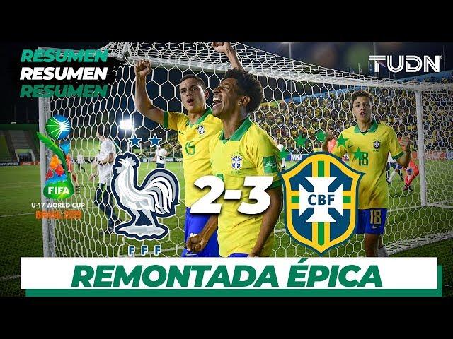 Resumen y Goles | Francia 2 - 3 Brasil| Mundial Brasil Sub-17 - Semifinal | TUDN