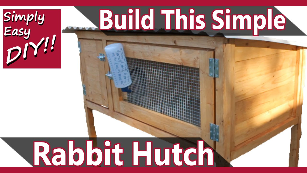 Build a rabbit hutch design 2 youtube for How to make a bunny hutch