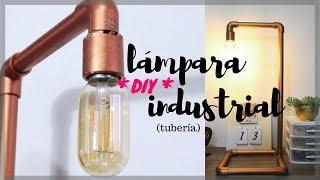 DIY lámpara con tubería PVC  - Imitación tubería cobre