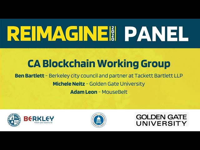 REIMAGINE 2020 v2.0 -  CA Blockchain Working Group - Panel