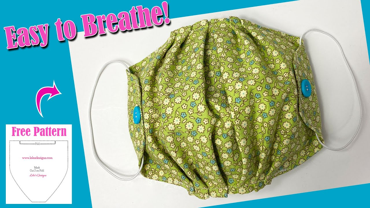 Easy to Breathe Summer Face Mask Tutorial | It Does Not Touch Mouth and Nose - Free PDF Pattern