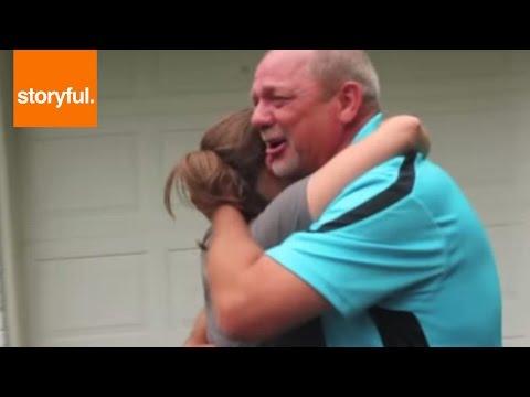Daughter Surprising Stepdad With His Old Porsche