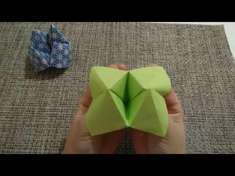 おりがみ☆パックンチョ(ふしぎな はな)の作り方 / 簡単 こども 折り紙 Kids Origami/Strange flower