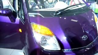 New Purple Tata Nano & Tata Nano CNG at Auto Expo 2012, New Delhi, India