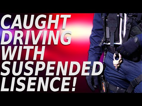 I'M IN TROUBLE! Driving with a suspended license