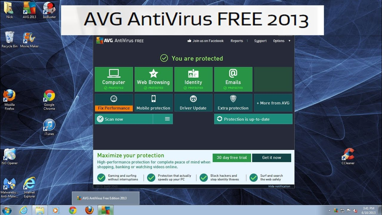 How to update your avg anti-virus manually youtube.