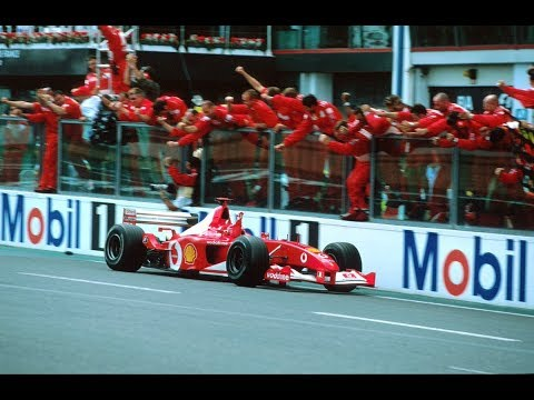 MICHAEL SCHUMACHER WINS HIS 5TH CHAMPIONSHIP VS MONTOYA VS RAIKKONEN - FRANCE 2002