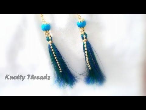 How to make Silk Thread Tassel Earrings !!