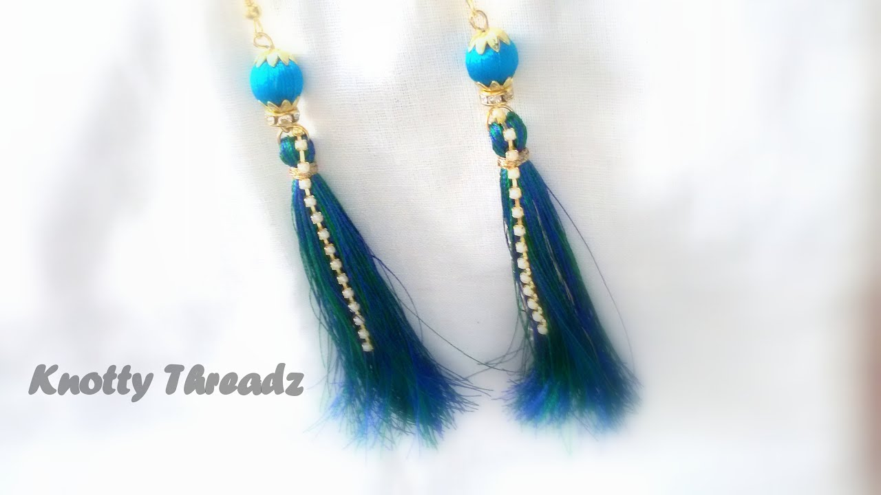 sarang img earrings products silk handmade thread