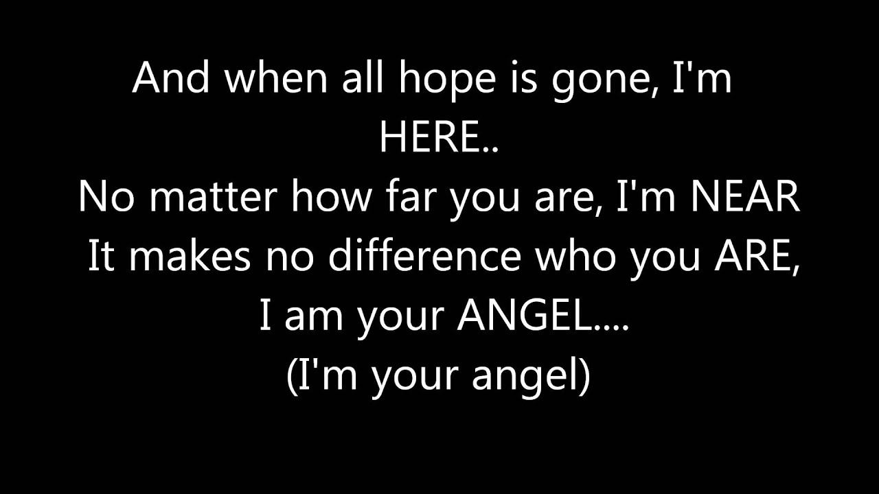CELINE DION - I'M YOUR ANGEL LYRICS