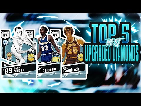TOP 5 BEST UPGRADED DIAMONDS IN NBA 2K17 MYTEAM!! THESE CARDS ARE SO GOOD NOW!!