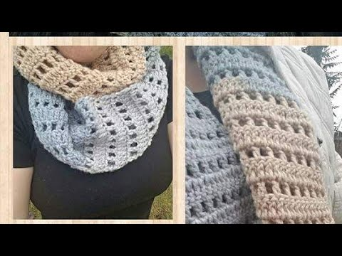 Quick and easy crochet infinity scarf - YouTube
