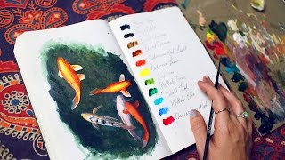Painting fish in pond water & some thoughts | Sketchbook Sunday #35