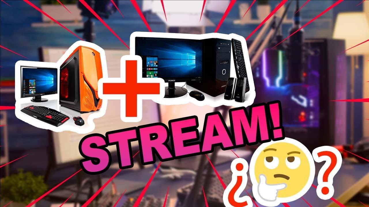 Stream 2 PC with StreamLabs OBS SIN Capturer NEWTEK NDI TOOL