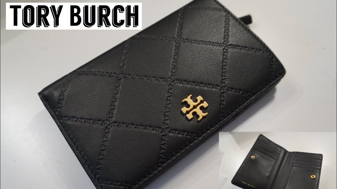 1042be894bce3d Unboxing: Tory Burch Georgia Slim Medium Wallet - YouTube