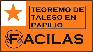 LA TEOREMO DE TALESO 2, EN PAPILIOFORMA FIGURO (ESPERANTO)