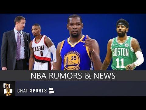 NBA Rumors: Kevin Durant & Kyrie Irving Free Agency, Damian Lillard Contract & Tobias Harris News