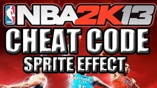 nba 2k13 cheat code sprite effect bonus