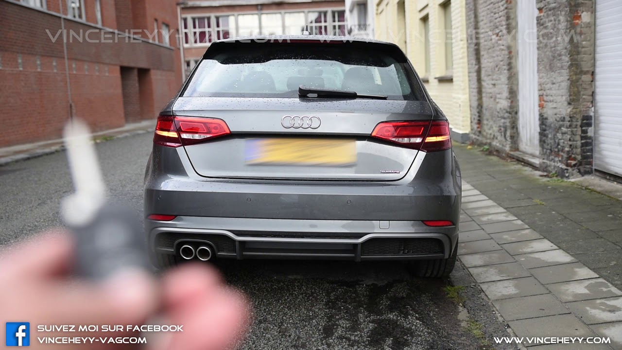 audi a3 8v facelift rear taillights during unlocking. Black Bedroom Furniture Sets. Home Design Ideas