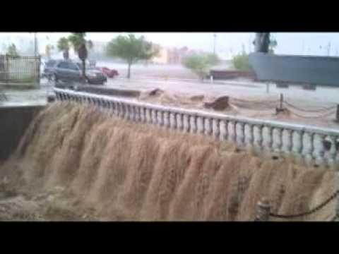 Major Monsoon Rain and Flooding Lake Havasu City, Arizona 7/13/2012