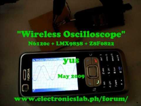 Industrial Electronics installation: Wifi oscilloscope