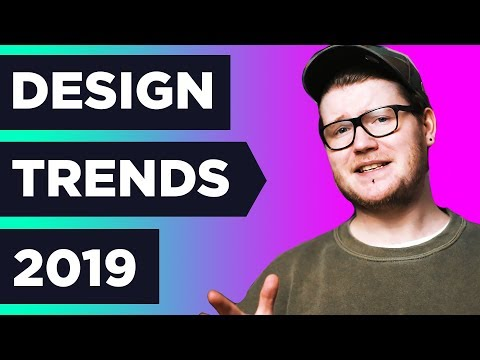 7 HUGE NEW Graphic Design TRENDS in 2019 ❓