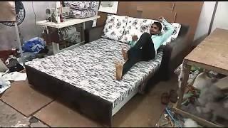 #cumbed #3foldsofa How to open sofa cumbed 3 fold with storage 5×6FEET seating ABKN FURNITEC
