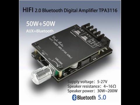 Стерео усилитель мощности 50WX2. HIFI беспроводной Bluetooth 5,0 TPA3116D2.