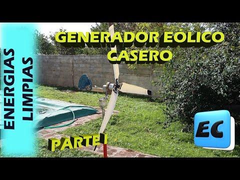 Como hacer un generador eólico. Aerogenerador casero Parte I