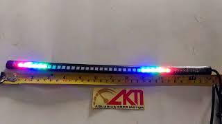 Lampu LED Fleksibel 7 Warna Mode Running LED COB Variasi Semua Motor