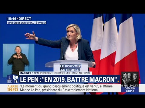 """Marine Le Pen: """"C'est en Europe que se décide qui sera votre voisin de palier"""""""