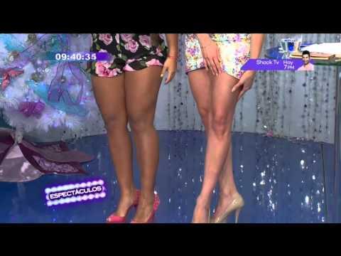 Vania Bludau compar� sus piernas con Karen Schwarz y Sandra Arana