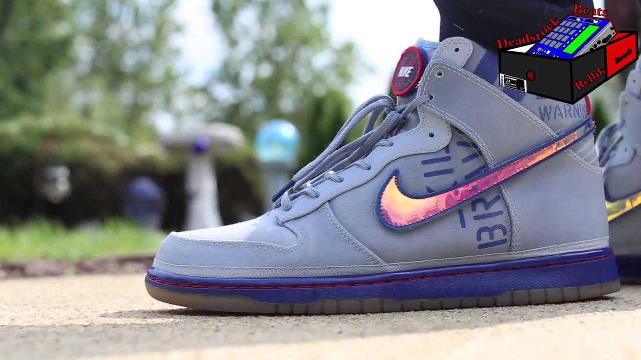 "100% authentic 0a349 2df58 ... Nike ""All-Star"" Dunk High Premium QS Galaxy On Feet (eXimus Beat ..."
