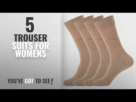 Top 10 Trouser Suits For Womens [2018]: Laulax 4 Pairs Finest Combed Cotton Dress Socks, Beige,