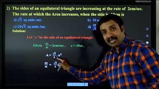 II PUC | Mathematics | CET/NEET/JEE | Applications of Derivatives