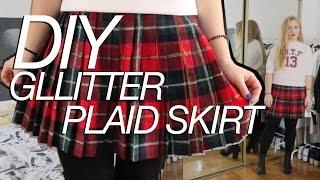 12 Days Of Diy | Plaid Glitter Skirt Inspired By Saint Laurent