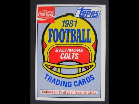 1981 Topps Coke Baltimore Colts Football 11 Card Set