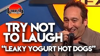 try-not-to-laugh-leaky-yogurt-hot-dogs-laugh-factory-stand-up-comedy