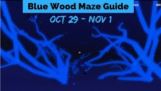 Blue Wood Maze Guide Oct 29 - Nov 1 (Lumber Tycoon 2 ) Roblox