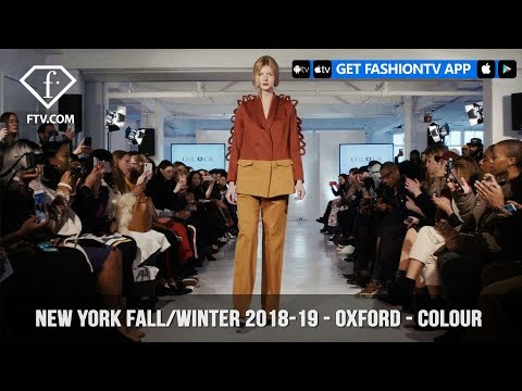 New York Fashion Week Fall/Winter 18 19 - Oxford Fashion Studio - Colour | FashionTV | FTV