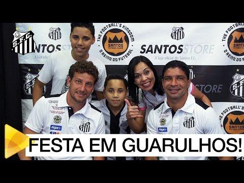 Renato e Elano têm noite de autógrafos na Santos Store Guarulhos