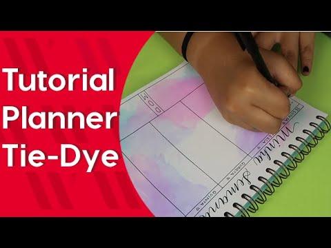Como fazer um Planner Semanal Tie-Dye | NewPen