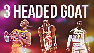 "LeBron James X Kobe Bryant X Michael Jordan NBA Mix ""3 Headed Goat"""