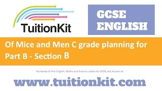 of mice and men c grade planning for part b section b english literature new