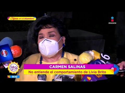 Carmen Salinas reacciona a polémica de Livia Brito tras golpear a fotógrafo | Sale el Sol