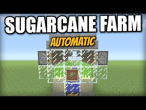 Minecraft PS4 - AUTOMATIC SUGARCANE FARM [lossless] Tutorial - PE / Xbox / PS3 / Wii U