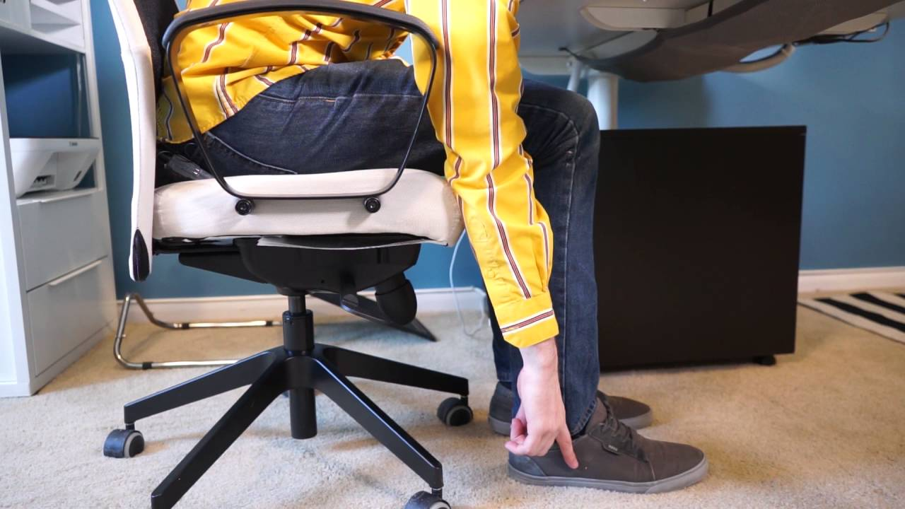 Ergonomic Chair For Home Office Posture Ball Reviews Tips Standing Desk Ikea Tour Youtube